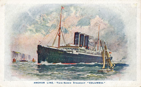 COLUMBIA (1902) - Anchor Line - www.simplonpc.co.uk