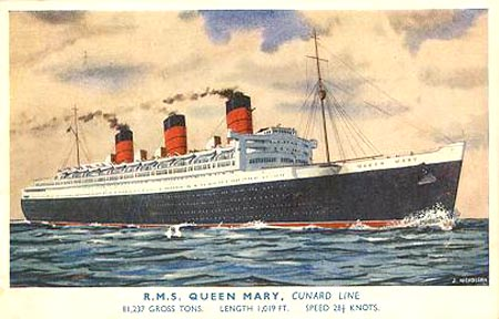 Rms Queen Mary Page 1 Ocean Liner Postcards