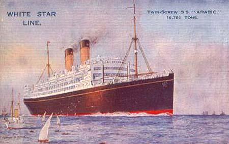 TRAVEL WHITE STAR LINE DORIC POSTCARD OCEAN LINER TUG FRAMED ART PRINT B12X3410