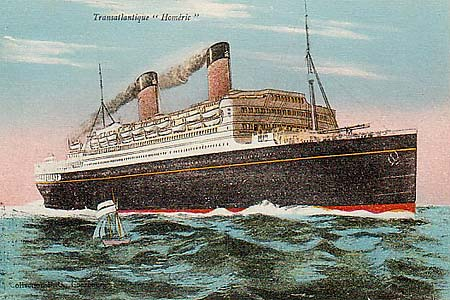 White Star Line Page Ocean Liner Postcards - Homeric cruise ship