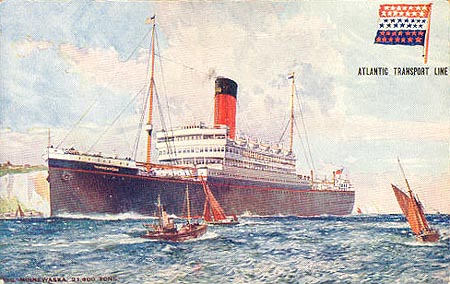 Atlantic Transport Line - Ocean Liner Postcards