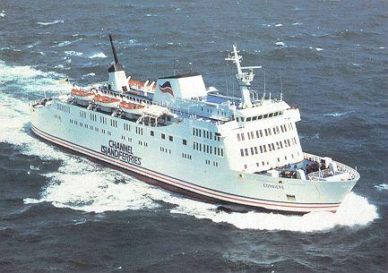 british channel islands ferries postcards
