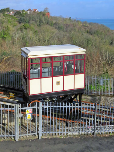 Babbacombe Cliff Railway - Upper Station - Photo: ©Ian Boyle 1st March 2015
