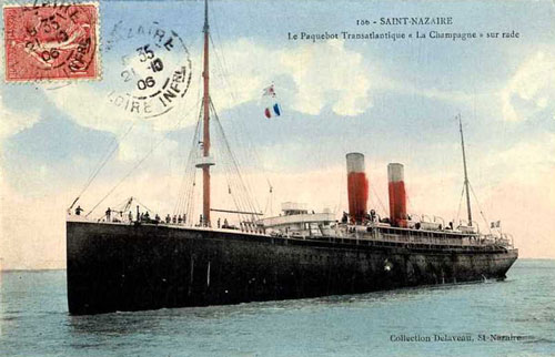LA CHAMPAGNE (CGT/French Line) - www.simplonpc.co.uk - Simplon Postcards