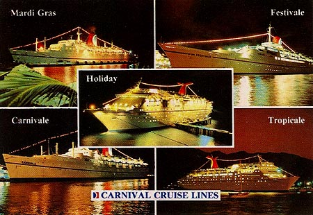 Carnival Cruise Line Postcards Page - Carnival cruise ship classes