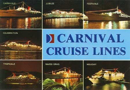 Carnival Cruise Line Postcards Page - Cruise ship schedule for grand cayman