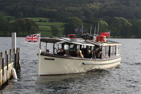 RANSOME of Coniston Launch - Photo: ©2010 Graham Thorne - www.simplompc.co.uk - Simplon Postcards
