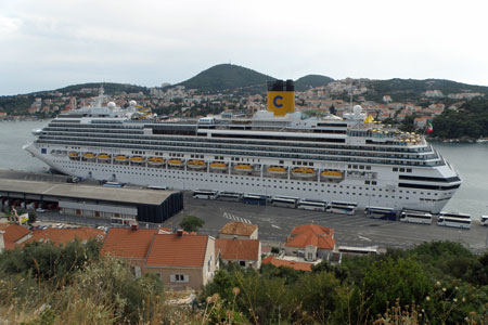 COSTA FAVOLOSA at Dubrovnik - Photo: �Neven Jerjovic, 5th July 2011 - www.simplonpc.co.uk