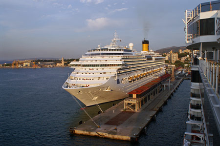 COSTA PACIFICA at Palma - Photo: � Ian Boyle, 26th August 2009