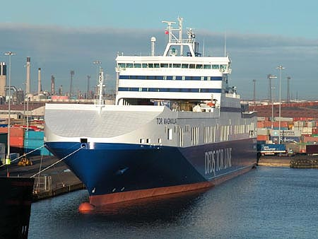 DFDS TOR Line Freight Ferry Postcards