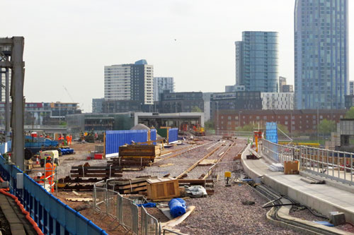 DLR - Pudding Mill Lane - Photo: © Ian Boyle, 12th April 2014 - www.simplonpc.co.uk