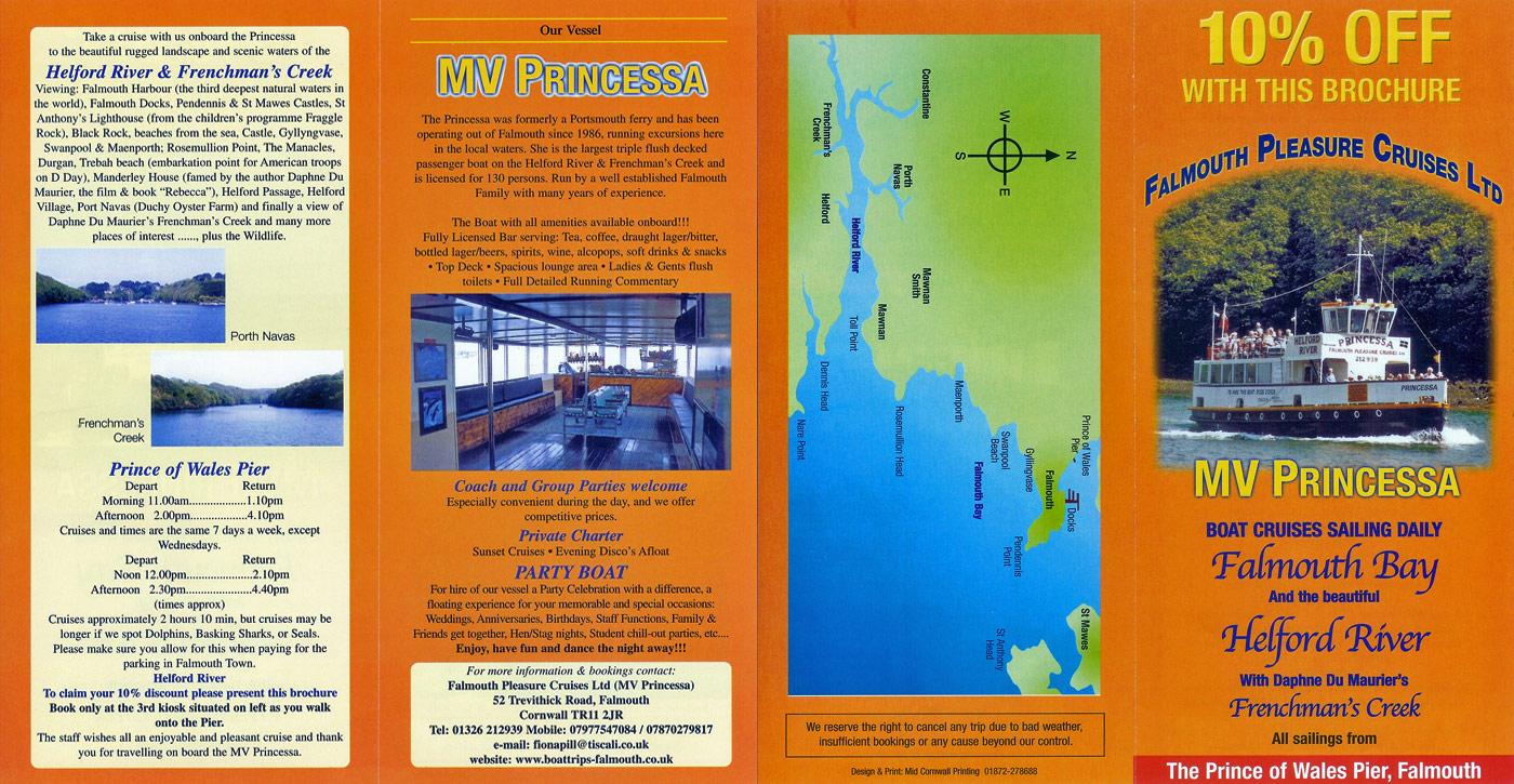Falmouth Pleasure Cruises  John Pill  Twinstar Cruises