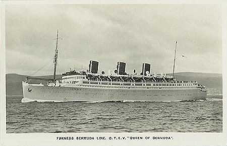 Furness Withy Co Ocean Liner Postcards - Queen of bermuda cruise ship
