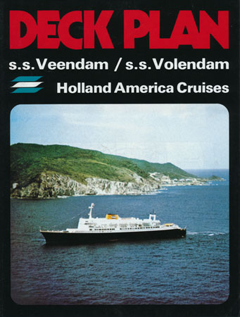 VOLENDAM - VEENDAM 1973 Deck Plan - www.simplonpc.co.uk - Simplon Postcards