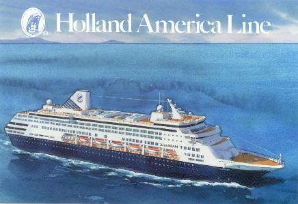 Holland America Cruise Ship Postcards - Zaandam ship