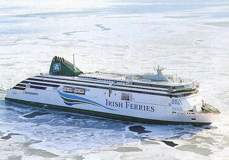 Ferry To Ireland From Holyhead >> Irish Ferries Ship Postcards