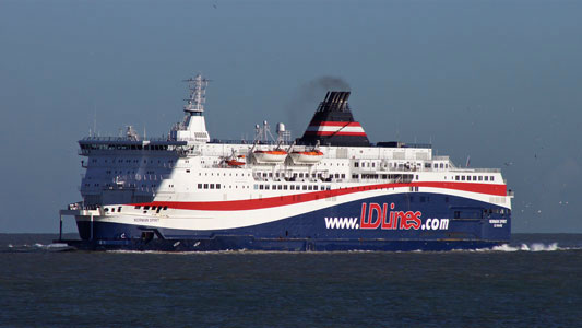 NORMAN SPIRIT on DFDS charter for Dover-Dunkerque services - Photo: � Ian Boyle, 12th December 2011 - www.simplonpc.co.uk