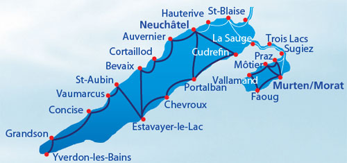 Map of Lac de Neuchatel