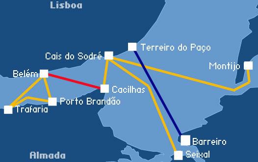 Резултат слика за lisbon ferry routes