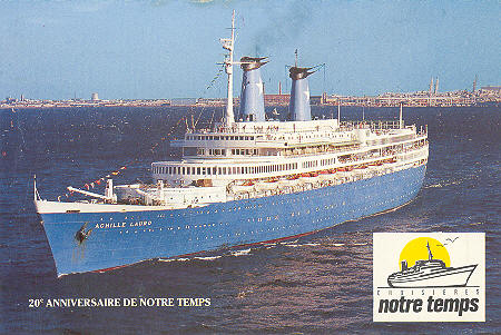 Lauro Lines Ocean Liner And Cruise Ship Postcards - Sinking cruise ship oceanos