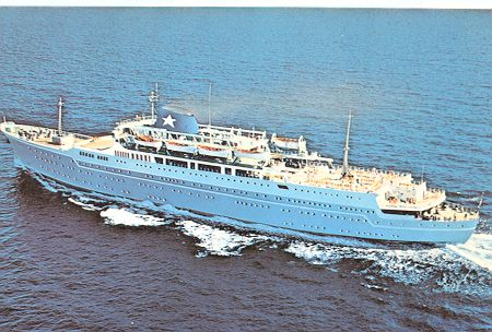 Lauro Lines Ocean Liner and Cruise Ship Postcards  Lauro Lines Oce...