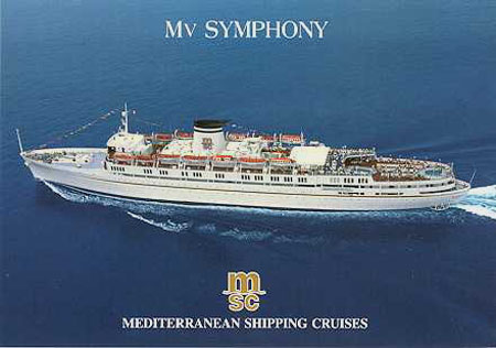 Provence SGTM  Enrico Costa  Symphony MSC Ship Postcards
