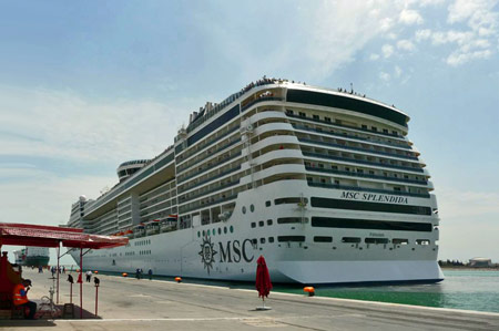 MSC SPLENDIDA at La Goulette, Tunisia - Photo: � Francesco Galantino, 11th August 2009