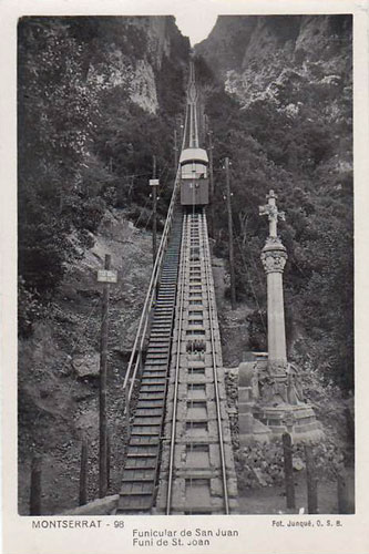 Monserrat - Funicular de Sant Joan - www.simplompc.co.uk - Simplon Postcards