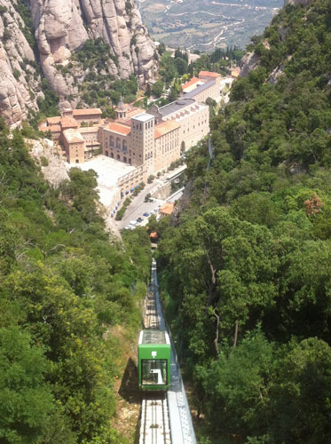 Monserrat - Funicular de Sant Joan - Photo: ©2013 Martin Grant  - www.simplompc.co.uk - Simplon Postcards