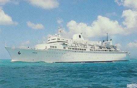 MooreMcCormack Liner Brasil Ship Postcards - Queen of bermuda cruise ship
