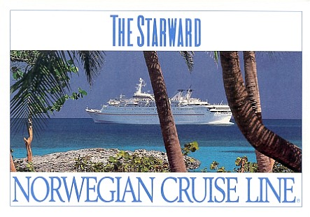 NCL Norwegian Cruise Line Cruise Ship Postcards - Starward cruise ship