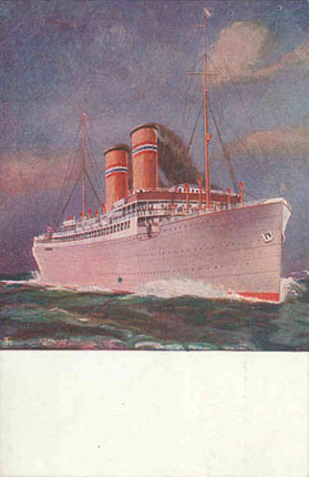 Kristianiafjord (1) - Norwegian America Line - Simplon Postcards - www.simplonpc.co.uk