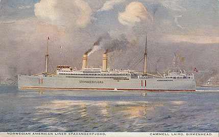 Stavangerfjord - Norwegian America Line - Simplon Postcards - www.simplonpc.co.uk