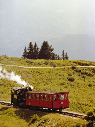 ÖBB Schafberg - Photo: ©1989 Ian Boyle - www.simplonpc.co.uk - Simplon Postcards