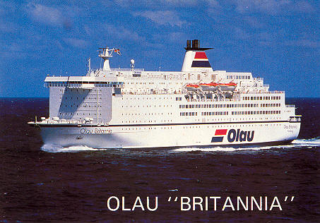 Portsmouth To Le Havre >> Olau Line Ferry Postcards