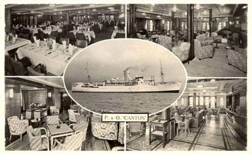 CANTON (1938) - P&O - Simplon Postcards - www.simplonpc.co.uk