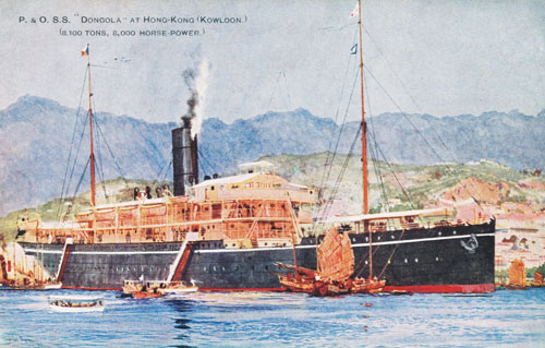 P&O DONGOLA - Simplon Postcards - simplonpc.co.uk