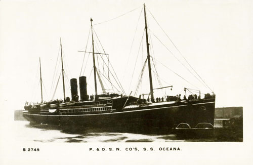 OCEANA - P&O 1888 - Simplon Postcards - simplonpc.co.uk