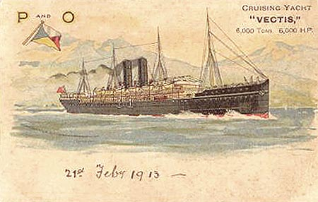 VECTIS - P&O 1881 - Simplon Postcards - simplonpc.co.uk