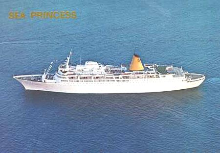 Princess Cruises PO Cruise Ship Postcards - Columbo cruise ship
