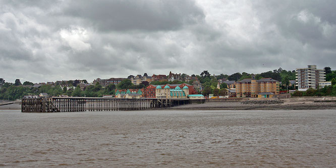 Penarth Pier from PS WAVERLEY