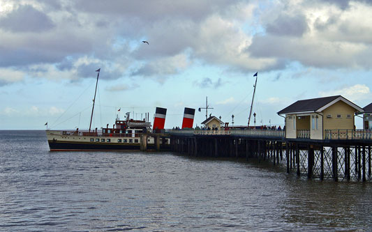 Penarth Pier with PS WAVERLEY