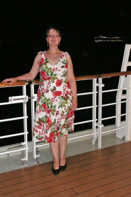 Margaret on Queen Victoria - Photo: © Ian Boyle, 23rd August 2009