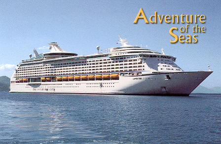 Astral Graphics postcard serial Adv-1 of Adventure of the Seas.