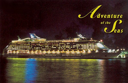Astral Graphics postcard serial Adv-2 of Adventure of the Seas.