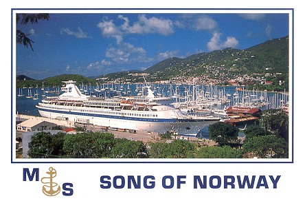 Song Of Norway Cruise Ship Postcards - Cruise ship norway