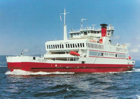 Red Osprey - Red Funnel Ferry Photographs - Ferry Postcards