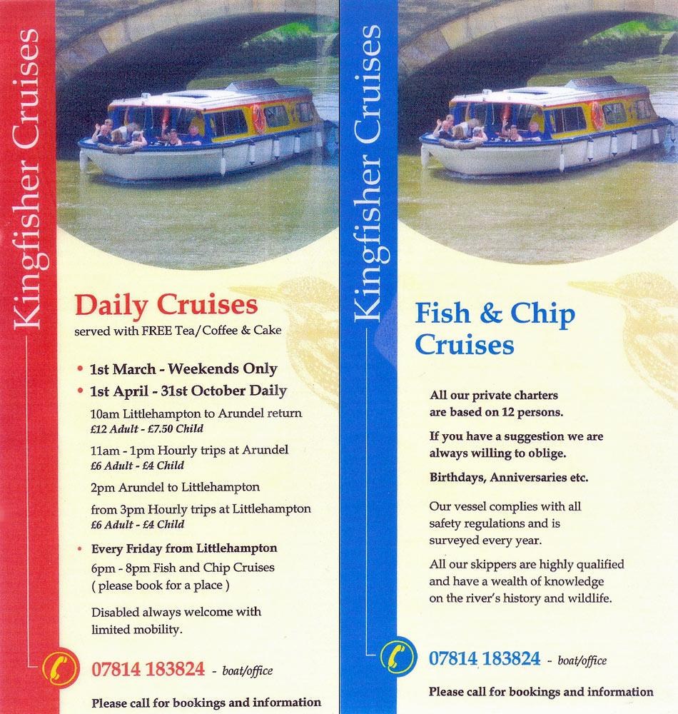 Kingfisher Cruises LittlehamptonArundel River Arun Ferry - Cruise ship brochure
