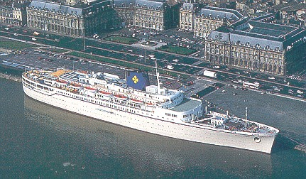 Flandre Of French Line Ocean Liner Postcards Later Princess - Princess cruise ship fire