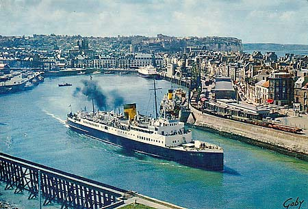 sncf dieppe newhaven ferry photographs ferry postcards. Black Bedroom Furniture Sets. Home Design Ideas
